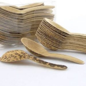 "5.1"" Premium Bamboo Leaf Chinese Soup Spoons"