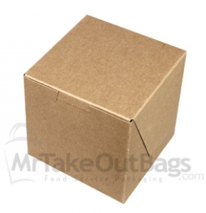brown kraft individual cupcake box