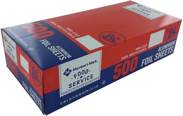 package of foil sheets