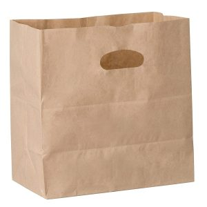 natural kraft paper bag with die-cut handles