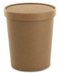 Brown container with lid