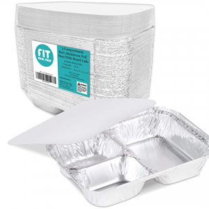 Aluminum Foil Pan Take Out Food Containers with Flat Board Lids