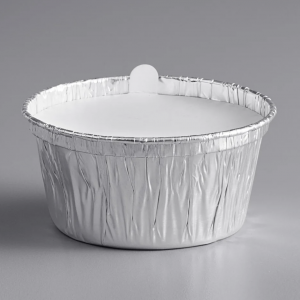 aluminum cup with paper lid