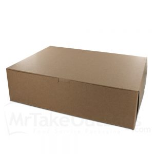 brown kraft cake box
