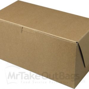 brown kraft pastry box