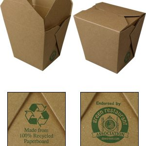 Brown Kraft Chinese Take Out Boxes