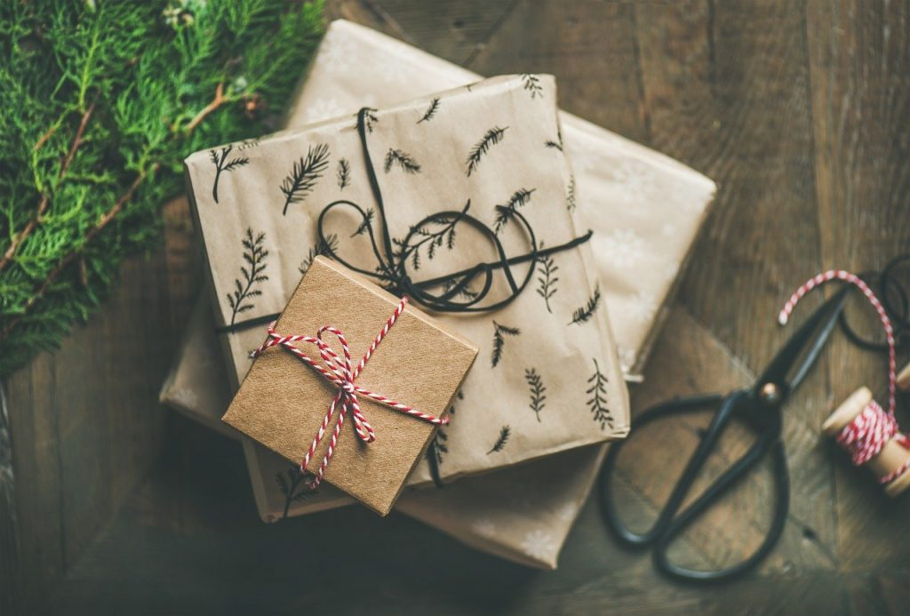 gifts, background, decoration