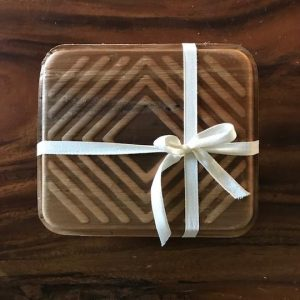 palm leaf gift box with ribbon bow