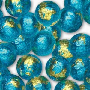 foil wrapped chocolate earths